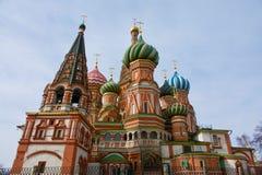 moskou Buitenkant van St Basil's Kathedraal Stock Foto's