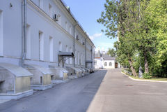 moskou Campusziekenwagen Sklifosovsky Royalty-vrije Stock Foto