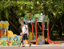 Moskou, Cherkizovsky-park Royalty-vrije Stock Foto's