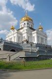 Moskou, Christus de Kathedraal Soviour stock foto's