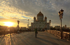 Moskou Christus de Kathedraal van de Redder Royalty-vrije Stock Afbeelding