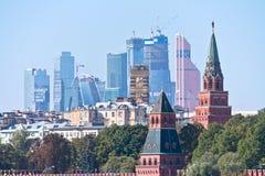 moskou Cityscape Stock Afbeelding