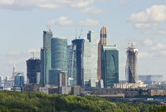 Moskou, commerciële centrum Moskou-Stad Stock Afbeelding