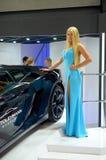 MOSKOU - 29 08 2014 - De automobiele Internationale Automobiele Salon van Tentoonstellingsmoskou Stock Afbeeldingen