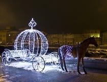 Moskou, de decoratie van Kerstmis Royalty-vrije Stock Afbeelding