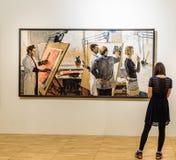 moskou De Dooi ` van de tentoonstellingstentoonstelling ` in de Tretyakov-Galerij Stock Foto's