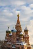 Moskou. De Kathedraal van het Basilicum van heilige Stock Foto's