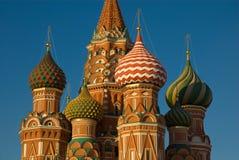 Moskou. De Kathedraal van het Basilicum van heilige Royalty-vrije Stock Afbeeldingen
