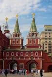 Moskou in de lente Stock Foto's