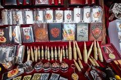 Moskou - 22 04 2017: De markt in Izmailovsky het Kremlin, Moskou Royalty-vrije Stock Afbeeldingen