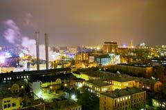 moskou De stad van de nacht Royalty-vrije Stock Afbeeldingen