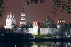 Moskou. Het klooster van Novodevichiy. Stock Foto