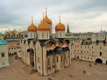 Moskou het Kremlin De Kathedraal van Dormition Kleurenfoto royalty-vrije stock foto