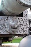 Moskou het Kremlin De Koning Cannon De Plaats van de Erfenis van de Wereld van Unesco Stock Afbeeldingen