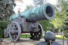 Moskou het Kremlin De Koning Cannon De Plaats van de Erfenis van de Wereld van Unesco Royalty-vrije Stock Afbeeldingen