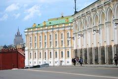 Moskou het Kremlin De Plaats van de Erfenis van de Wereld van Unesco Stock Afbeelding