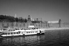 Moskou het Kremlin De Plaats van de Erfenis van de Wereld van Unesco Royalty-vrije Stock Fotografie