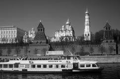 Moskou het Kremlin De Plaats van de Erfenis van de Wereld van Unesco Royalty-vrije Stock Afbeeldingen