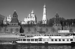 Moskou het Kremlin De Plaats van de Erfenis van de Wereld van Unesco Royalty-vrije Stock Foto