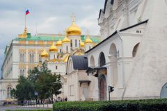 Moskou het Kremlin De Plaats van de Erfenis van de Wereld van Unesco Royalty-vrije Stock Foto's