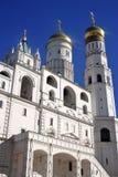 Moskou het Kremlin De Plaats van de Erfenis van de Wereld van Unesco Ivan Great Bell-toren Stock Fotografie