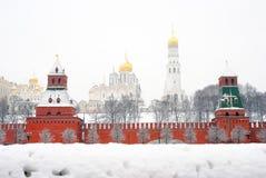 Moskou het Kremlin De Russische winter Royalty-vrije Stock Afbeeldingen