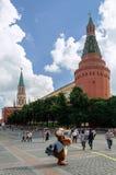Moskou het Kremlin de Toren van het Hoekarsenaal Royalty-vrije Stock Foto's