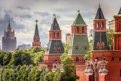 Moskou het Kremlin in de zomer, Rusland royalty-vrije stock fotografie