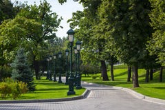 Moskou het Kremlin en de tuin van Alexander Stock Foto's