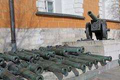 Moskou het Kremlin, het Arsenaal Royalty-vrije Stock Afbeeldingen