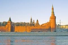 Moskou het Kremlin Kleurenfoto Stock Afbeelding