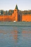 Moskou het Kremlin Kleurenfoto Stock Foto