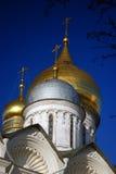 Moskou het Kremlin Kleurenfoto Aartsengelskerk Stock Foto's