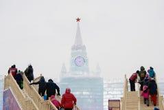 Moskou het Kremlin van ijs wordt gemaakt dat Royalty-vrije Stock Afbeeldingen