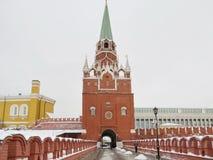 Moskou - ingang aan het Kremlin Royalty-vrije Stock Afbeeldingen