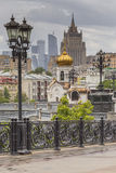 MOSKOU - JUNI 04, 2016: Moskou-stad (Moskou Internationale Busine stock afbeelding