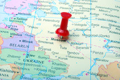 Moskou in kaart Royalty-vrije Stock Afbeelding