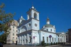 moskou Kerk van Dormition van Theotokos in Mogiltsy Stock Foto