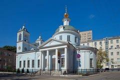 moskou Kerk van Dormition van Theotokos in Mogiltsy Royalty-vrije Stock Afbeelding