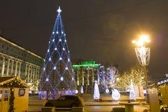 Moskou, Kerstboom Stock Foto