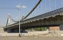 Moskou, Kryvsky-brug Stock Foto