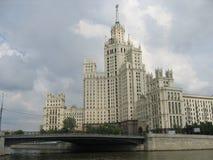 Moskou, Lang huis Stock Afbeelding