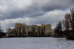 Moskou 21 Maart 2016: Ministerie van Defensie de Russische Federatie Royalty-vrije Stock Afbeelding