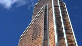 moskou Mening van de commerciële van Moskou internationale centrum` Mercury toren ` stock video