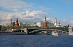moskou Mening van het Kremlin, Grote Steenbrug en Mosc Royalty-vrije Stock Afbeelding
