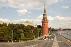 Moskou, mening van het Kremlin. Rusland royalty-vrije stock afbeeldingen