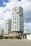 Moskou, moderne gebouwen royalty-vrije stock afbeeldingen