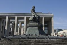 Moskou, monument aan Dostoevskiy Stock Foto