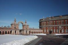 Moskou. Museum Tsaritsyno. De Korpsen van de keuken royalty-vrije stock fotografie