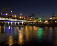 Moskou, Nieuwe brug Arbat Royalty-vrije Stock Foto's